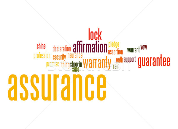 Assurance word cloud Stock photo © tang90246