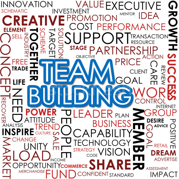 Team building word cloud Stock photo © tang90246