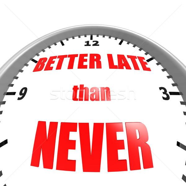 Jobb késő soha kép renderelt mű Stock fotó © tang90246