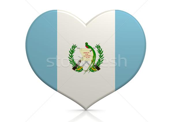 Guatemala coração fundo viajar país conceito Foto stock © tang90246