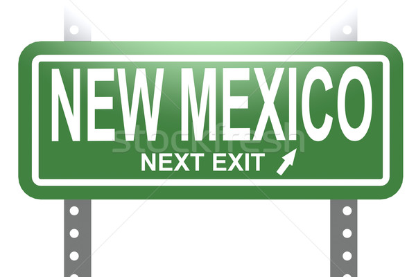 Stock photo: New Mexico green sign board isolated