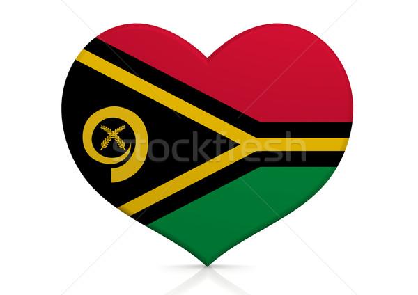 Vanuatu coração fundo viajar país conceito Foto stock © tang90246