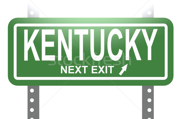 Kentucky green sign board isolated Stock photo © tang90246