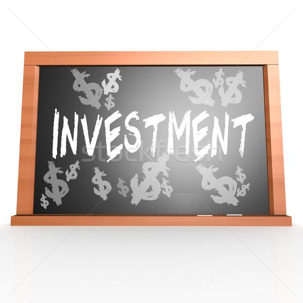 Bord investissement mot image rendu Photo stock © tang90246