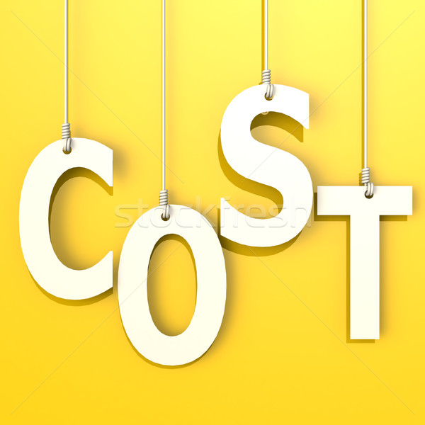 Cost word in orange background Stock photo © tang90246