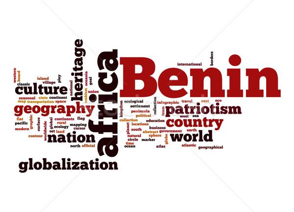 Benin word cloud business mondo africa nube Foto d'archivio © tang90246