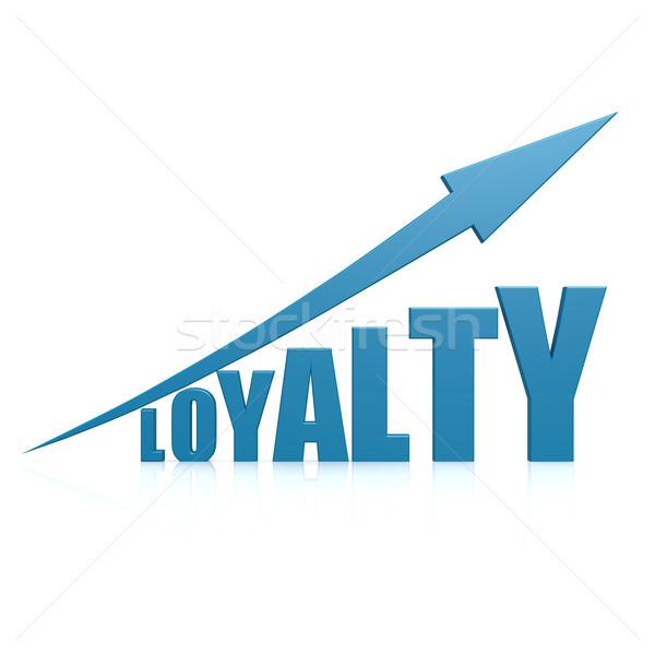 Loyalität blau arrow Arbeit Hintergrund Zeit Stock foto © tang90246