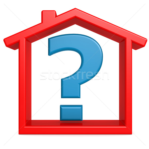 Question in the red house Stock photo © tang90246