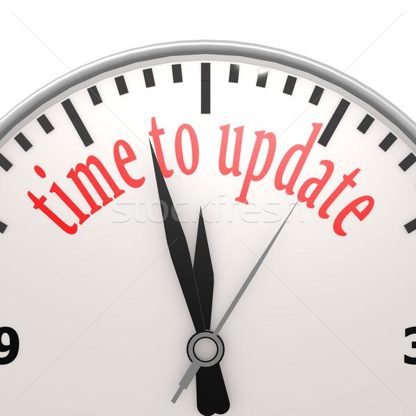 Idő frissítés üzlet internet óra fejlesztés Stock fotó © tang90246