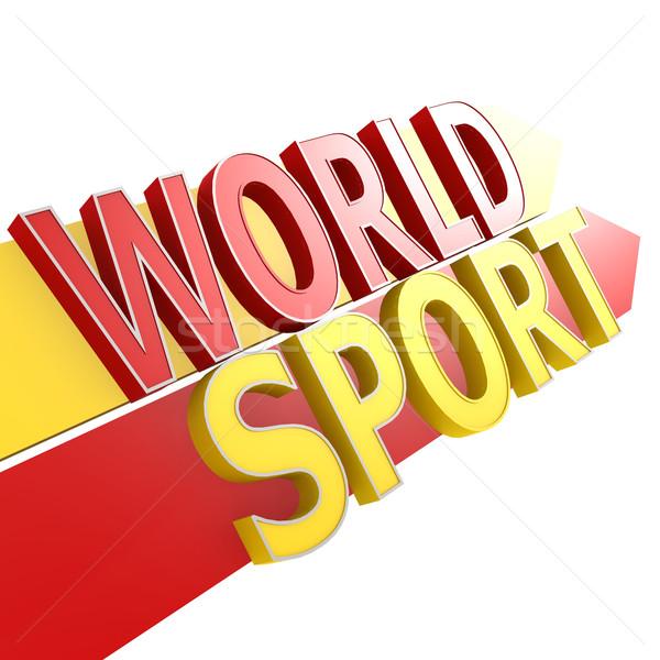 Mundo deporte fitness signo bienestar concepto Foto stock © tang90246