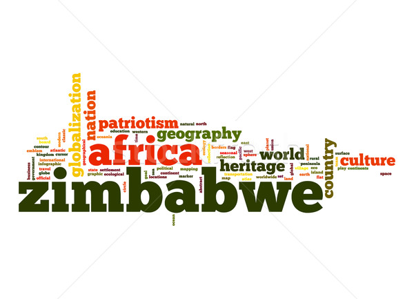 Zimbabwe word cloud Stock photo © tang90246
