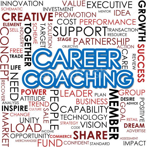 ストックフォト: キャリア · 開発 · 言葉の雲 · コーチング · ビジネス · 作業
