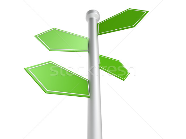 Rua postar cidade assinar verde azul Foto stock © tang90246