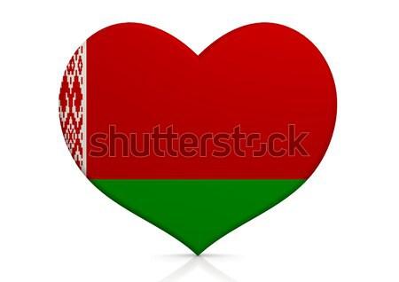 Bielorrusia corazón fondo viaje país concepto Foto stock © tang90246