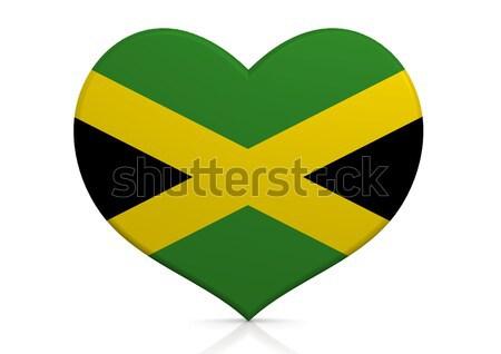 Jamaica hart achtergrond reizen land concept Stockfoto © tang90246