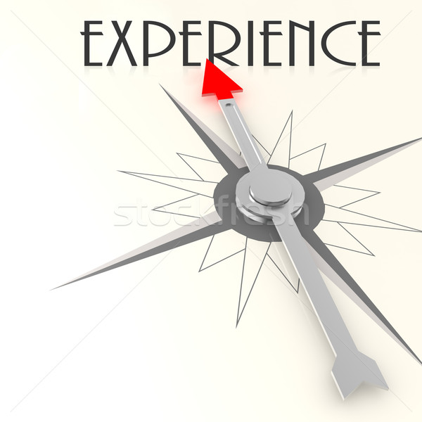 Compass with experience word Stock photo © tang90246