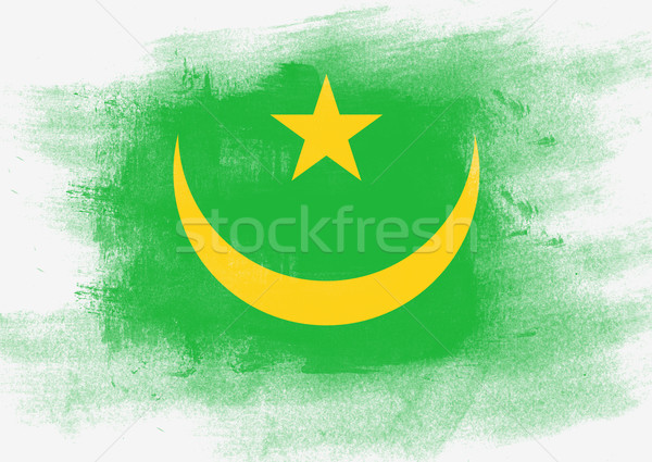 Flag of Mauritania painted with brush Stock photo © tang90246