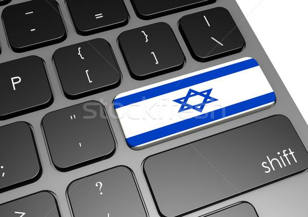 Израиль клавиатура изображение оказанный используемый Сток-фото © tang90246