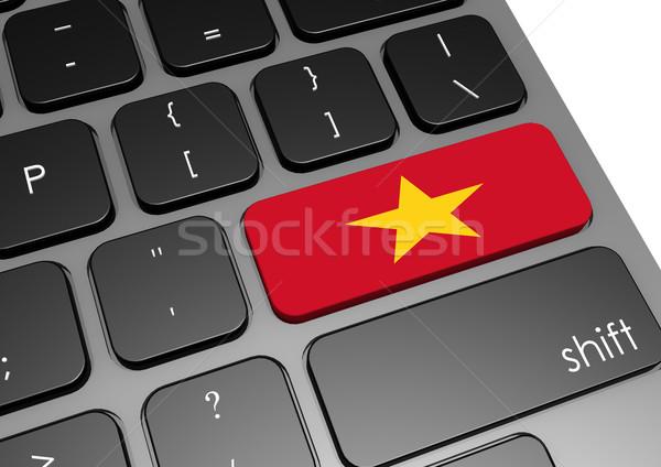 Вьетнам клавиатура изображение оказанный используемый Сток-фото © tang90246