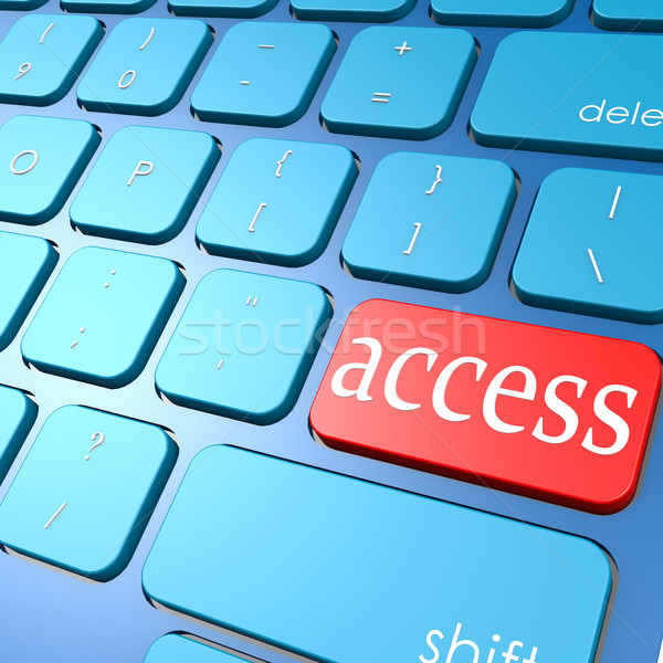 Hozzáférés billentyűzet internet szolgáltatás információ adat Stock fotó © tang90246