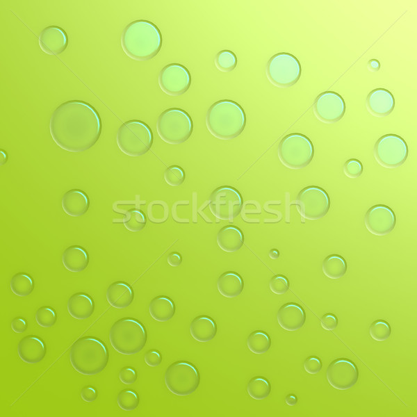 Green water droplet Stock photo © tang90246