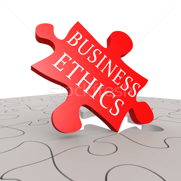 Business ethics puzzle Stock photo © tang90246