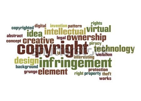 Szerzői jog szófelhő textúra technológia háttér kreatív Stock fotó © tang90246