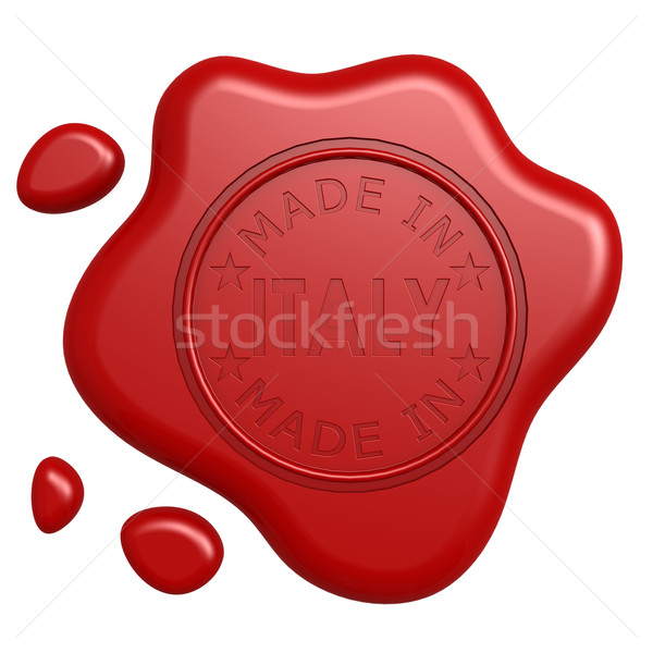 Made in Italy seal Stock photo © tang90246