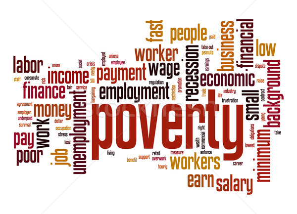 Poverty word cloud Stock photo © tang90246