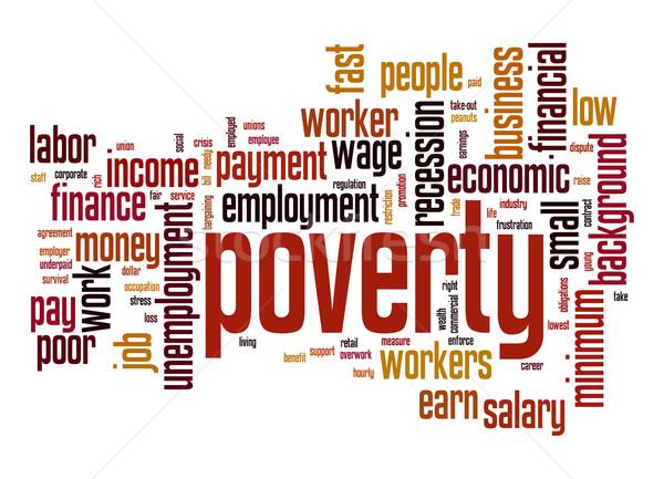 Povertà word cloud business lavoro sfondo lavoratore Foto d'archivio © tang90246