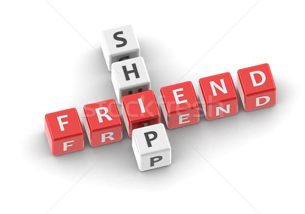 Amistad imagen prestados utilizado diseno gráfico Foto stock © tang90246