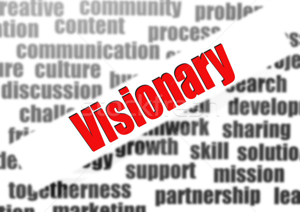 Visionary word cloud Stock photo © tang90246