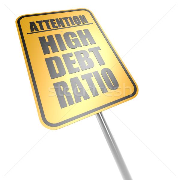 High debt ratio road sign Stock photo © tang90246
