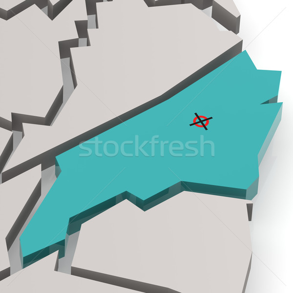 North Carolina map in blue Stock photo © tang90246