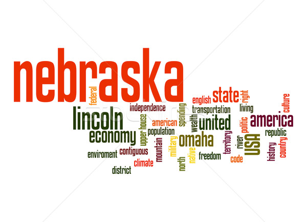 Nebraska word cloud Stock photo © tang90246