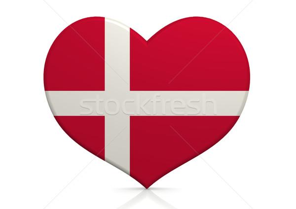 Denemarken hart achtergrond reizen land concept Stockfoto © tang90246