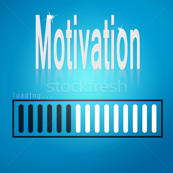 Motivation blue loading bar Stock photo © tang90246