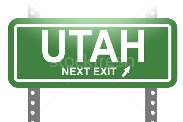 Utah green sign board isolated  Stock photo © tang90246