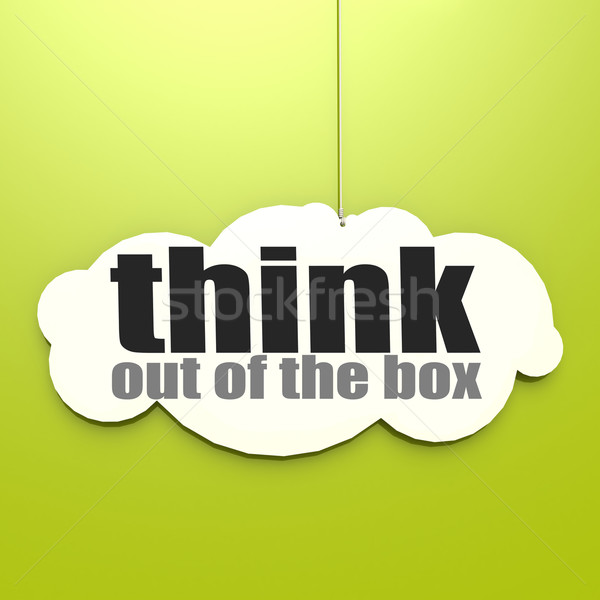 White cloud with think out of the box Stock photo © tang90246