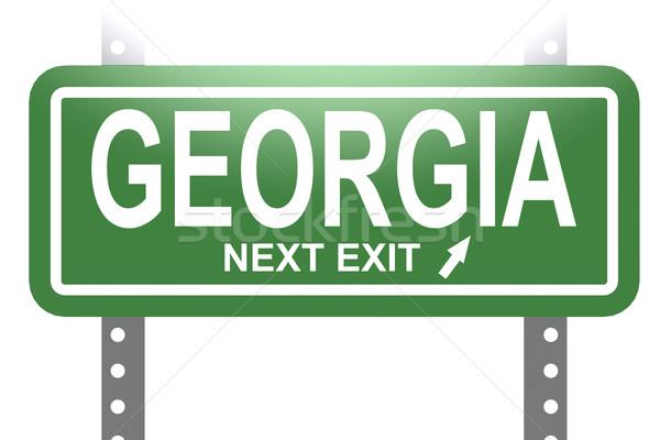 Грузия зеленый знак совета изолированный изображение Сток-фото © tang90246