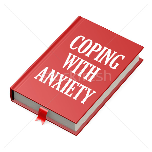 Book with an anxiety concept title Stock photo © tang90246