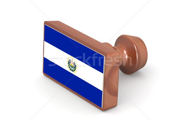 Carimbo El Salvador bandeira imagem prestados Foto stock © tang90246