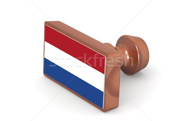штампа Нидерланды флаг изображение оказанный Сток-фото © tang90246