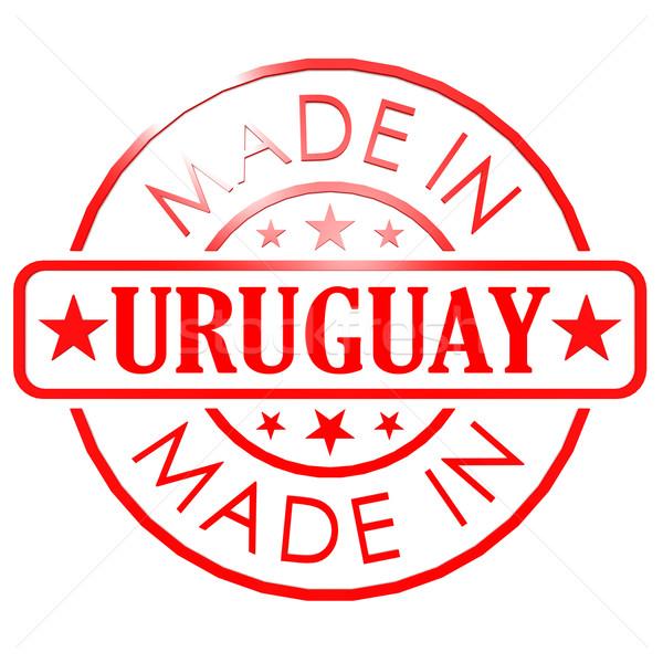 ウルグアイ 赤 シール ビジネス 紙 デザイン ストックフォト © tang90246