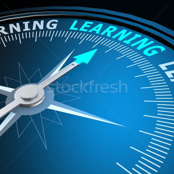 Сток-фото: обучения · слово · компас · изображение · оказанный