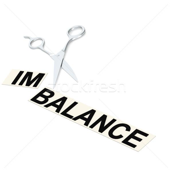 Scissor cut imbalance Stock photo © tang90246