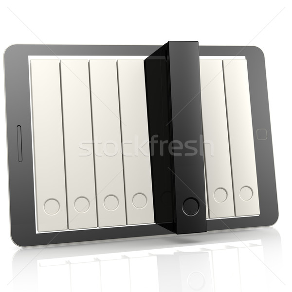 Black book and tablet Stock photo © tang90246