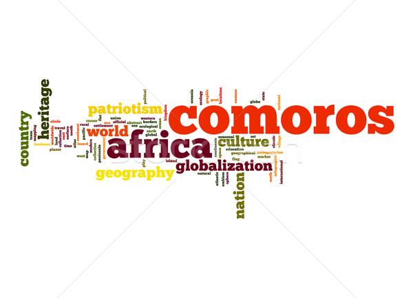 Comoros word cloud Stock photo © tang90246