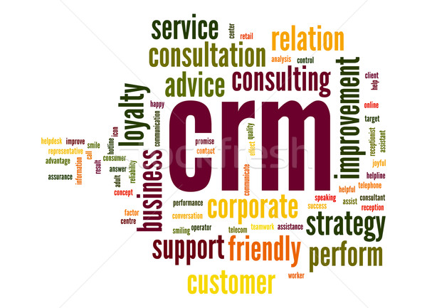 Crm word cloud nube servizio cliente tag Foto d'archivio © tang90246