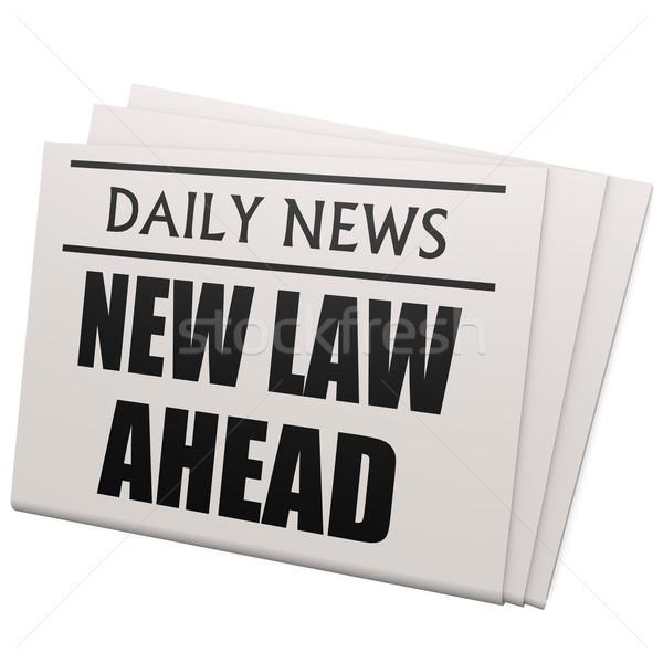 газета новых прав впереди дизайна фон Сток-фото © tang90246